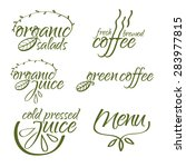 vector collection of organic...   Shutterstock .eps vector #283977815