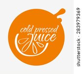 cold preserved juice  vector... | Shutterstock .eps vector #283979369