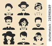 vector set of different male... | Shutterstock .eps vector #283980689