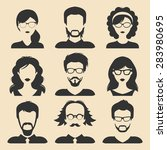 vector set of different male... | Shutterstock .eps vector #283980695