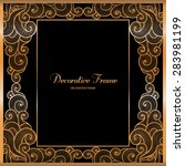vintage gold frame with the... | Shutterstock .eps vector #283981199