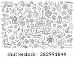 marine nautical hand drawn... | Shutterstock .eps vector #283991849