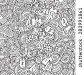 cartoon vector doodles hand... | Shutterstock .eps vector #283991861