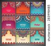 cards. vintage decorative... | Shutterstock .eps vector #283998485