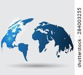 hand drawn earth | Shutterstock .eps vector #284003255