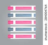 business infographics tabs... | Shutterstock .eps vector #284004764
