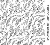 hand drawn seamless pattern... | Shutterstock .eps vector #284006861