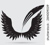 illustration of angel icon | Shutterstock .eps vector #284009039