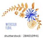 floral background. watercolor... | Shutterstock .eps vector #284010941