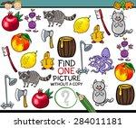 cartoon vector illustration of... | Shutterstock .eps vector #284011181