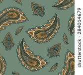 colorful paisley seamless | Shutterstock .eps vector #284014679