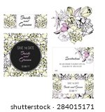 invitation  save the date cards.... | Shutterstock . vector #284015171