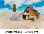house on sand. real estate... | Shutterstock . vector #28401595