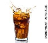 Splashing coke