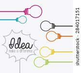 idea design over white... | Shutterstock .eps vector #284017151
