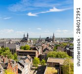 Small photo of view of aachen city at summer