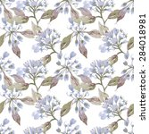 weigelas seamless pattern  eps 8 | Shutterstock .eps vector #284018981