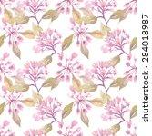 weigelas seamless pattern  eps 8 | Shutterstock .eps vector #284018987