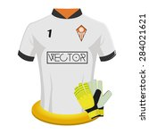 isolated soccer shirt on a... | Shutterstock .eps vector #284021621