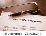 last will and testament... | Shutterstock . vector #284026244