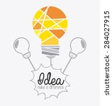 idea design over white... | Shutterstock .eps vector #284027915