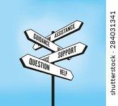 help signpost | Shutterstock .eps vector #284031341