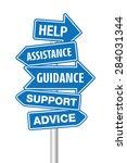 help signpost | Shutterstock .eps vector #284031344