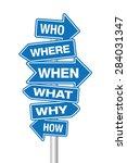 questions signpost | Shutterstock .eps vector #284031347