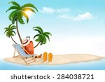 tropical island with palms  a...
