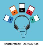 music concept design  vector... | Shutterstock .eps vector #284039735