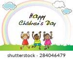 happy children's day | Shutterstock .eps vector #284046479
