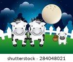 farm animals design  vector... | Shutterstock .eps vector #284048021