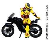 robot rider | Shutterstock . vector #284052221