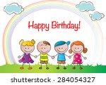 happy birthday card | Shutterstock .eps vector #284054327