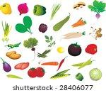 set of fresh vegetables... | Shutterstock .eps vector #28406077