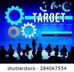 target mission solution success ... | Shutterstock . vector #284067554