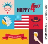 celebration of 4th of july.... | Shutterstock .eps vector #284080109