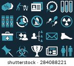 medical icon set. style ... | Shutterstock . vector #284088221