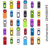 multicolored car collection... | Shutterstock . vector #284088395