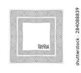 hand drawn doodle border frames.... | Shutterstock .eps vector #284088839
