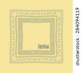 hand drawn doodle border frames.... | Shutterstock .eps vector #284094119