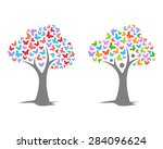 tree with butterfly of... | Shutterstock .eps vector #284096624