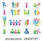 set of people icons for design | Shutterstock .eps vector #28409707
