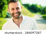 close up of a man smiling... | Shutterstock . vector #284097287