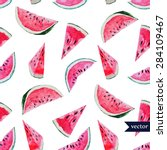 watercolor vector seamless... | Shutterstock .eps vector #284109467