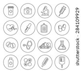 set of medical line icons.... | Shutterstock . vector #284109929