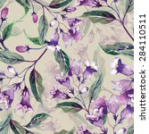 weigelas flower seamless pattern | Shutterstock . vector #284110511
