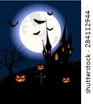 halloween background | Shutterstock .eps vector #284112944