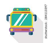 bus flat icon with long shadow | Shutterstock . vector #284113397