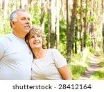 smiling happy  elderly couple... | Shutterstock . vector #28412164
